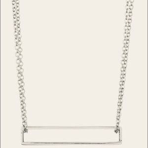 GORJANA NWT Open Rectangle Pendant Necklace!
